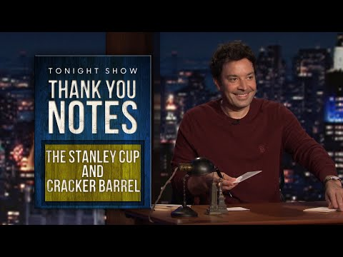Thank You Notes: The Stanley Cup, Cracker Barrel