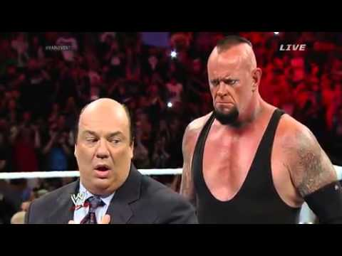 WWE main event 18 march 2014 Undertaker almost kills Paul Heyman