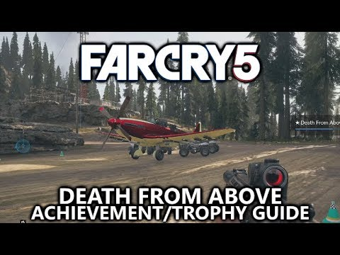 Far Cry 5 Death From Above Achievement Trophy Drop A Bomb And Destroy 4 Vehicles At Once Youtube