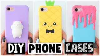 6 AMAZING DIY SLIME, SQUISHY & SUMMER INSPIRED PHONE CASE MAKEOVERS!