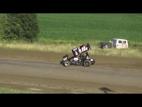 Great Lakes Sprint Heat Race #3 at I-96 Speedway on 07-31-16.