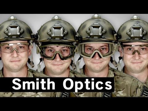 Airsoft GI - Smith Optics Elite Goggles and Shooting Glasses Demo with a Hat and Helmet