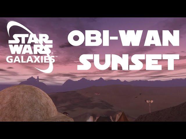 A Binary Sunset over Obi-Wan Kenobi's House (Star Wars Galaxies)