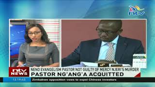 Pastor Ng'ang'a acquitted of Mercy Njeri's murder