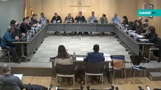 Ajuntament de Calafell: sessió plenària extraordinària, 28 de desembre de 2016