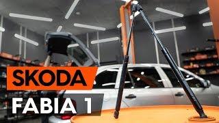 Utforska hur du löser problemet med Gasfjäder bakruta SKODA:: videoguide