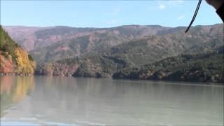 """Akaishi-Maru"" Boat on Ikawa Lake 2 井川湖の赤石丸 Bote ""Akaishi-Maru"" de Lago Ikawa"