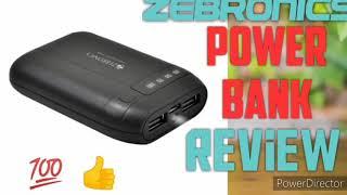 Zebronics power bank review 6000mAh powerbank