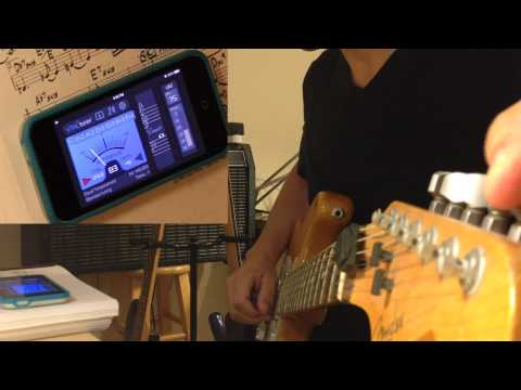 How to tune guitar to E♭ (E flat) with VITALtuner (best tuner app)