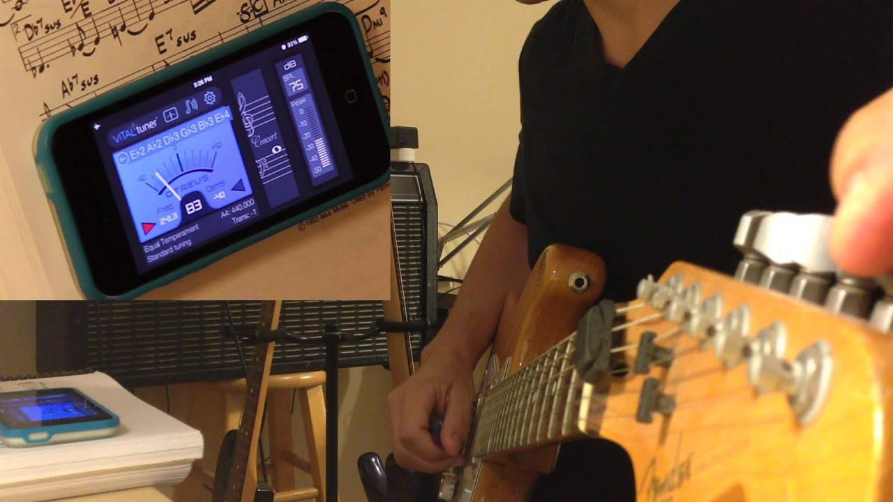 How To Tune Guitar To E E Flat With Vitaltuner Best Tuner App