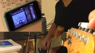 how to tune guitar to e (e flat) with vitaltuner (best tuner app)