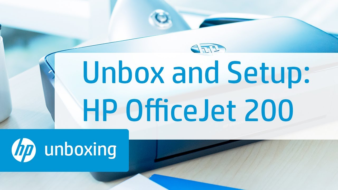 Unboxing, Setting Up, and Installing the HP OfficeJet 200 Mobile Printer |  HP OfficeJet | HP