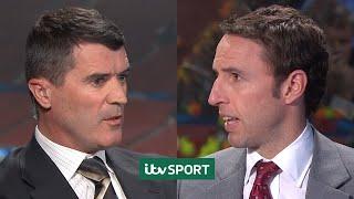 Roy Keane and Gareth Southgate disagree over Nani Red Card   ITV Sport Retro