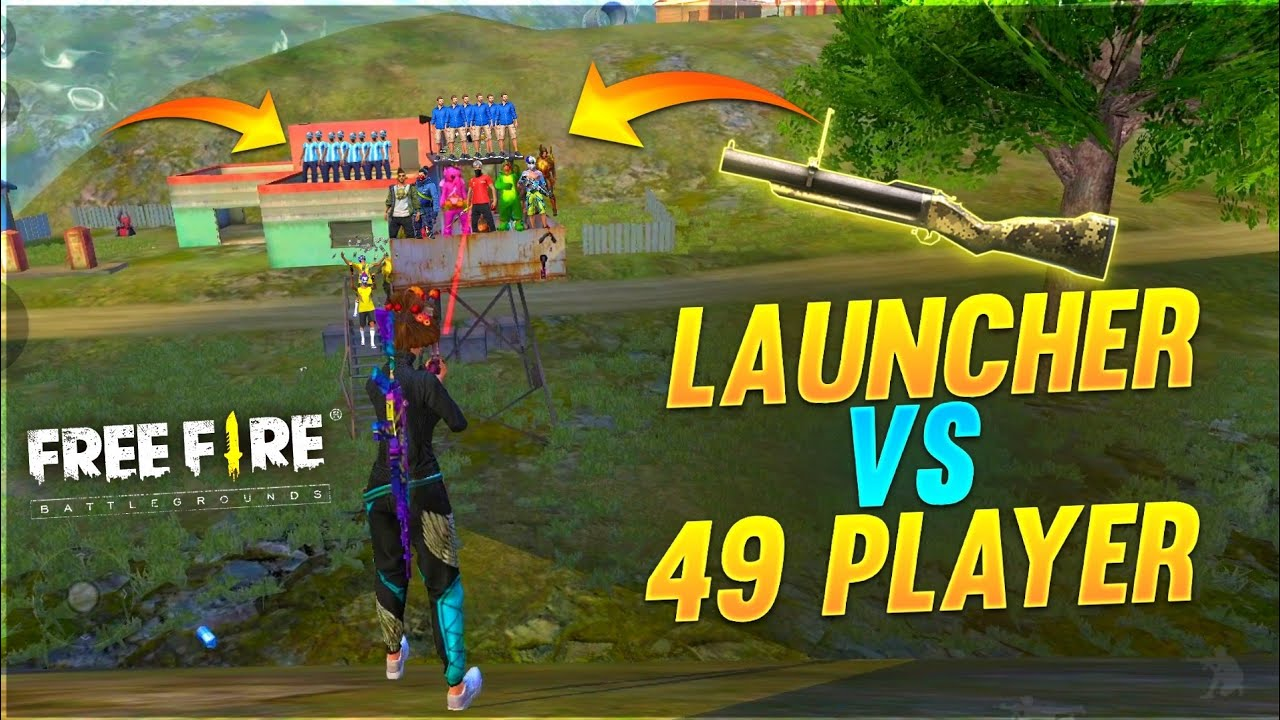 LAUNCHER VS 49 PLAYER😂 | 1 LAUNCHER VS 49 NOOBS WHO WILL WIN? | A_S Gaming |free fire
