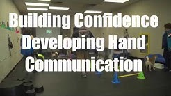 Building Confidence Developing Hand Communication with Show Dogs