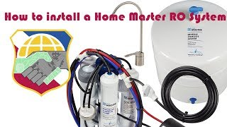 How to install a Home Master TMULTRA with Permeate Pump Reverse Osmosis Water Filter System