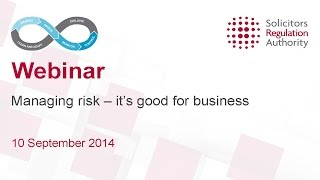 Managing risk - it's good for business