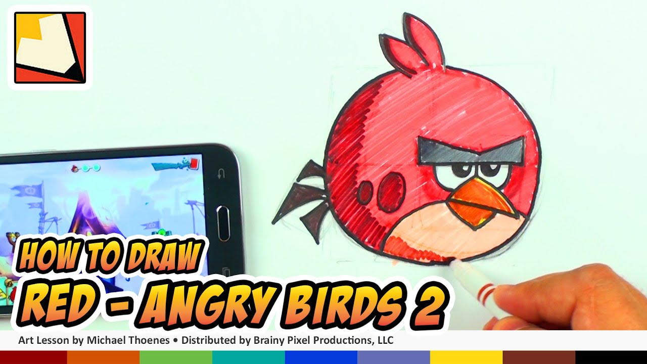 How To Draw Angry Birds 2 Characters Red Bp Youtube