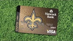 The Official Saints Visa Debit Card from Hancock Bank