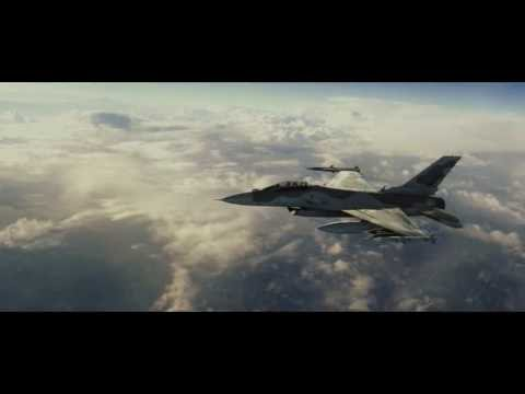 Jet Strike Visual Effects Test - F16 Fighter Jet in Flight CGI Element 3D Video Copilot