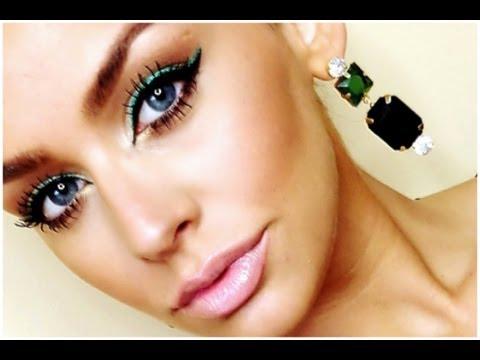 Pop of Green Makeup Tutorial | Carlibel55