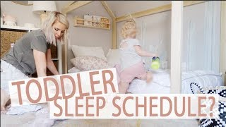 DAY IN THE LIFE OF A TODDLER MOM / Toddlers sleep schedule!