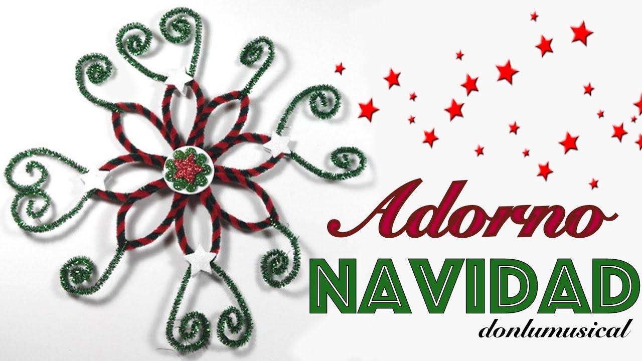 Decoraci n navidad adorno flor manualidades f ciles - Adorno de navidad manualidades ...