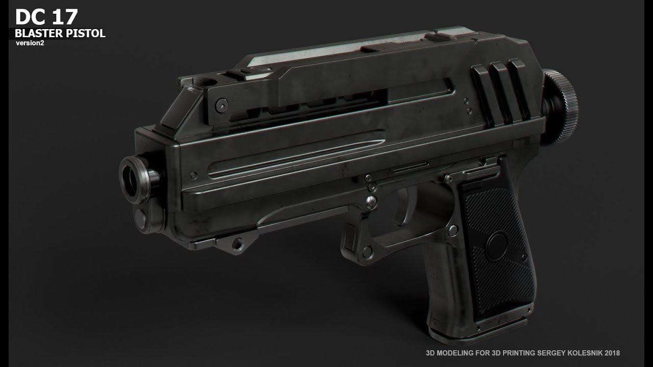 DC17 blaster 3d print kit