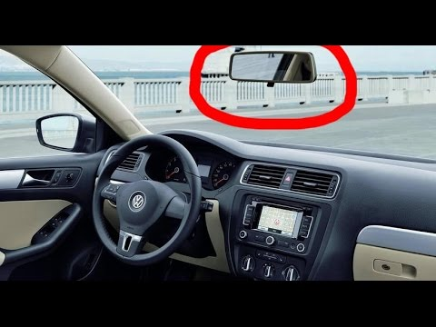 How To Remove Rear View Mirror Vw Skoda Audi Seat In 2 Seconds