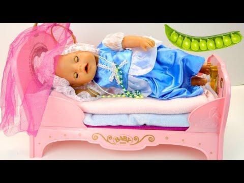 Как МАМА и Беби Бон Играли в Принцесса на Горошине Сказка Куклы Пупсики Для детей 108мамаТВ