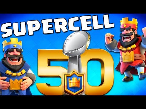 "Supercell SUPERBOWL! ""Broncos vs Panthers"" in Clash Royale!"