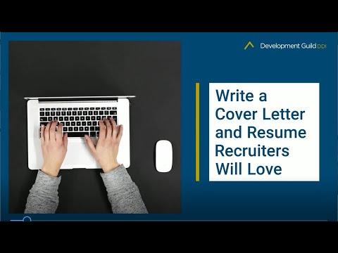 Write A Cover Letter And Resume Recruiters Will Love Development Guild Ddi
