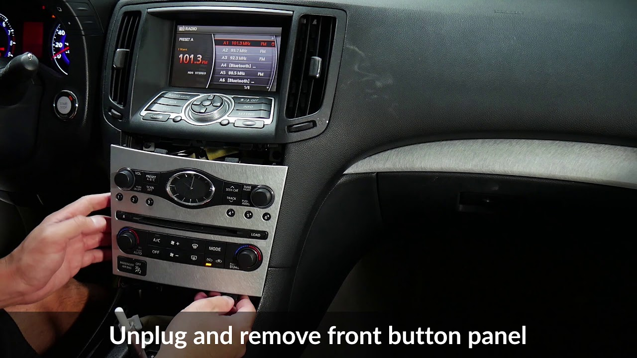 Infiniti G37 2009-2013 stereo removal and VLine NISK Installation - Part 1  - YouTubeYouTube