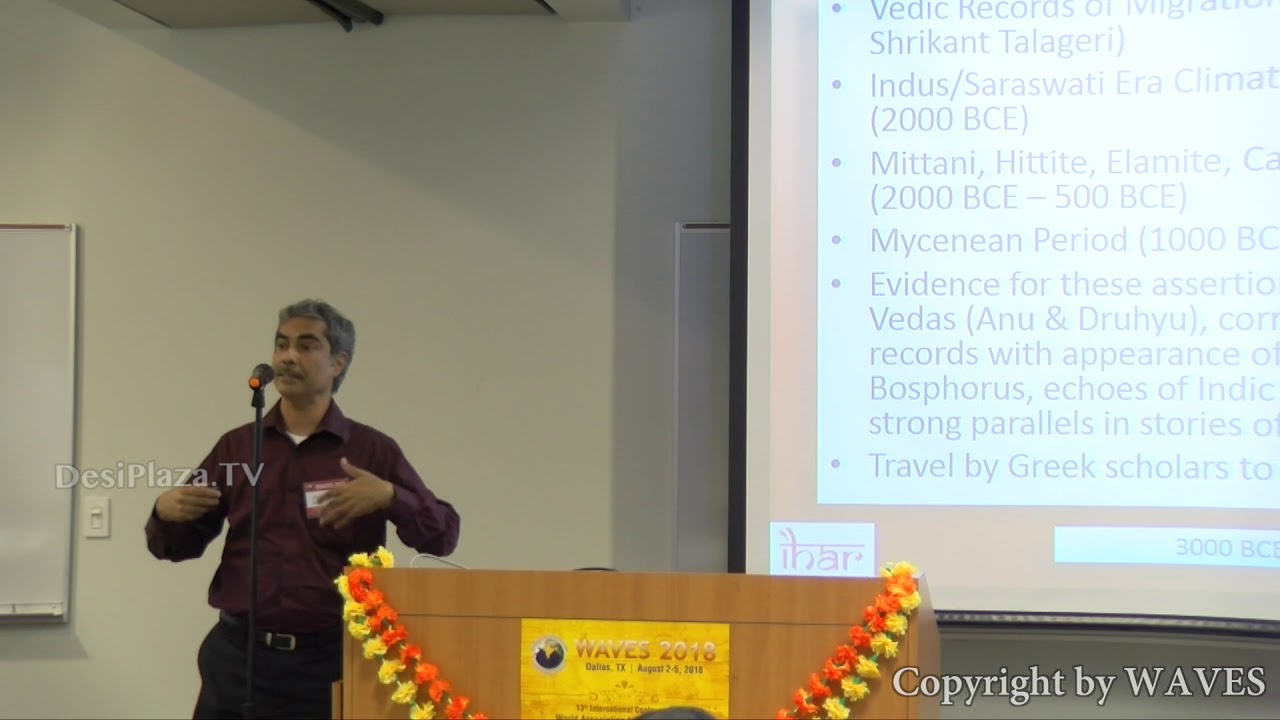 Dr Raj Vedam's talk on 'Selected Contributions of India to Knowledge Systems 'at WAVES 2018