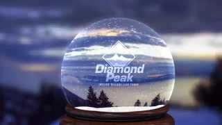 Diamond Peak Snow Globe: Happy Holidays