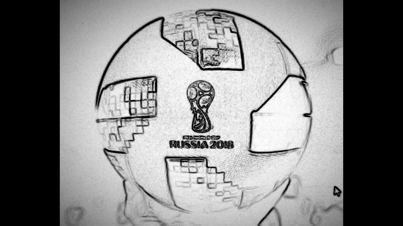 Comment dessiner le ballon de la coupe du monde 2018 youtube - Dessin de ballon de foot ...
