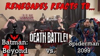 Renegades React to... Death Battle - Batman: Beyond vs. Spiderman 2099