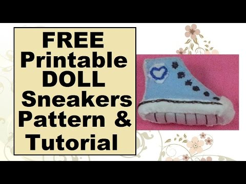 Free Doll Clothes Patterns Barbie Doll Sneakers Tutorial