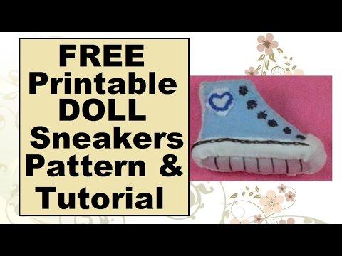 Barbie Doll Sneakers Tutorial Amp Free Pattern Youtube