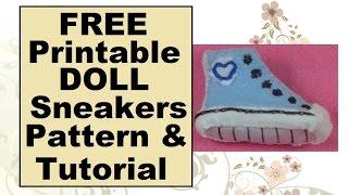 Barbie Doll Sneakers Tutorial & Free Pattern