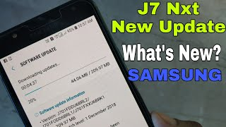 Samsung Galaxy J7 Nxt Receive New Fota Update | Android Pie