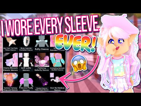 I TRIED ON EVERY SLEEVE EVER AND THIS HAPPENED! ROBLOX Royale High Outfits Challenge & Secrets