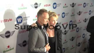 Sting, Trudy Styler at Warner Music Group GRAMMY Celebrat...