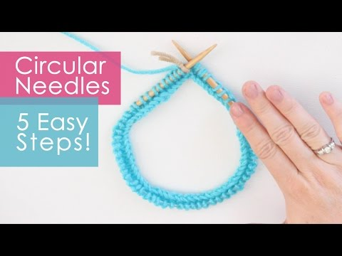 Easy Knit Hat Pattern With Circular Needles : How to Knit on Circular Needles in 5 Easy Steps - YouTube