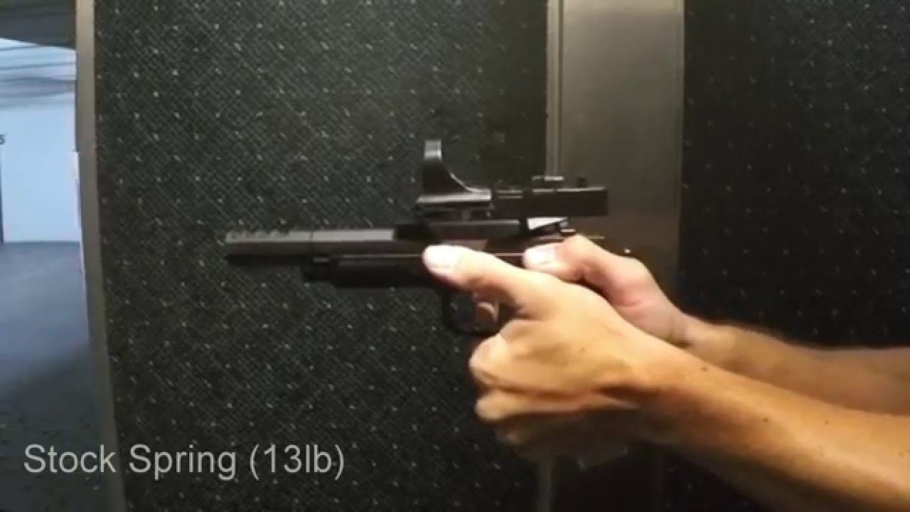 CZ 75 Czechmate 9mm Open Gun - Recoil Spring Tuning