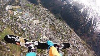 World record snowboard jump 1000m (3280ft)