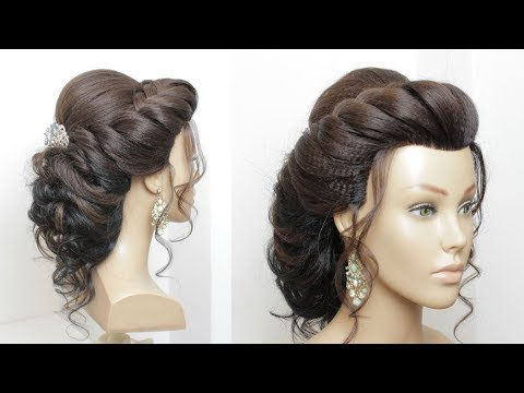 Beautiful Hairstyle For Wedding, Party, Function. Bridal Updo
