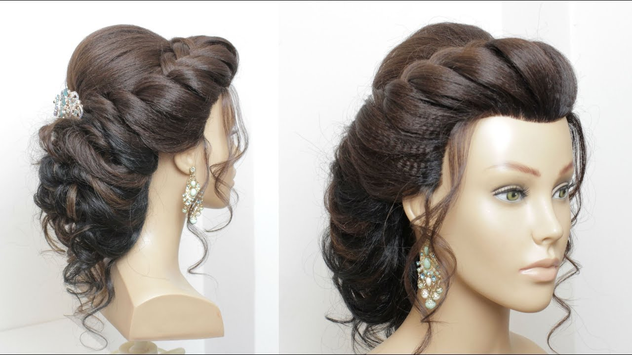 wedding hairstyle tutorial. bridal updo for long hair