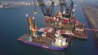 Installation 1,600mt Leg Encircling Crane Aeolus - Van Oord