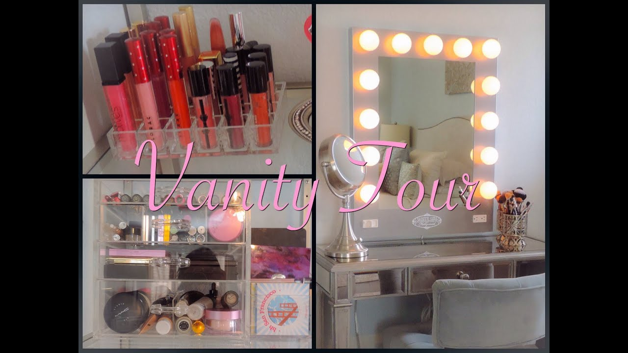 Under Sink Organizer Ikea Vanity Tour 2014 And Makeup Organization Ideas Video Youtube